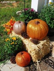 Sparkly Mini Fall Pumpkins