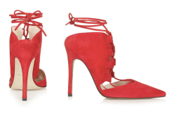 Topshop red lace-up courts, $159, available at Topshop