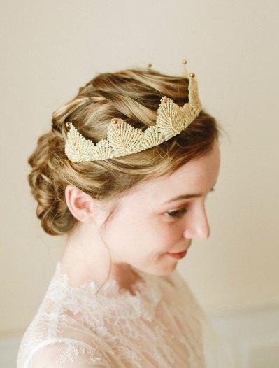 Lace Crown Tiara_Louloudimeli Etsy