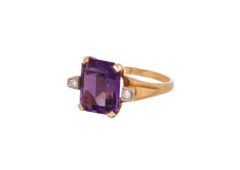 Emerald-cut amethyst ring by Vintage, US$1,080, from Broken English