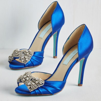 Betsey Johnson rhinestone-embellished d'orsay pumps, US$77.99, available from Modcloth