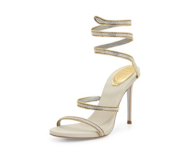 Rene Caovilla crystal snake-coil sandal, S$2,085.10, available at Neiman Marcus