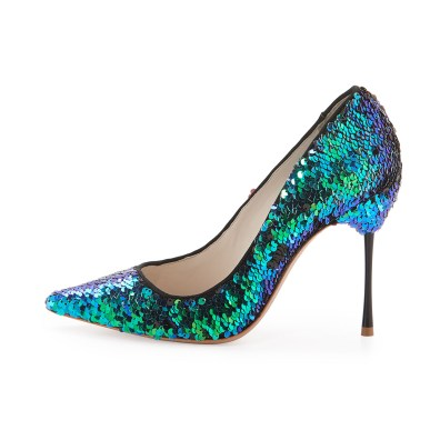 Sophia Webster 'Coco' iridescent pump, S$602.70, available at Neiman Marcus