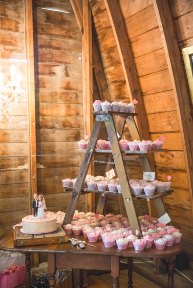 Display cupcakes or treats on old ladders. Photo: Krista Esterling Photography