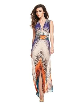 Marciano Long Dress Animalier