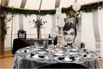 Channel Holly Golightly's love for monochrome with this black and white setup. Photo: Nelson Wedding Photography