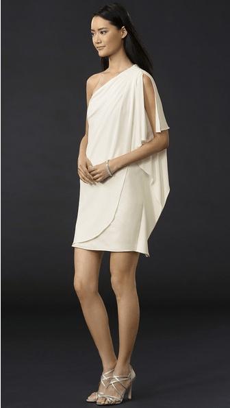 Badgley Mischka Collection One Shoulder Mini Dress