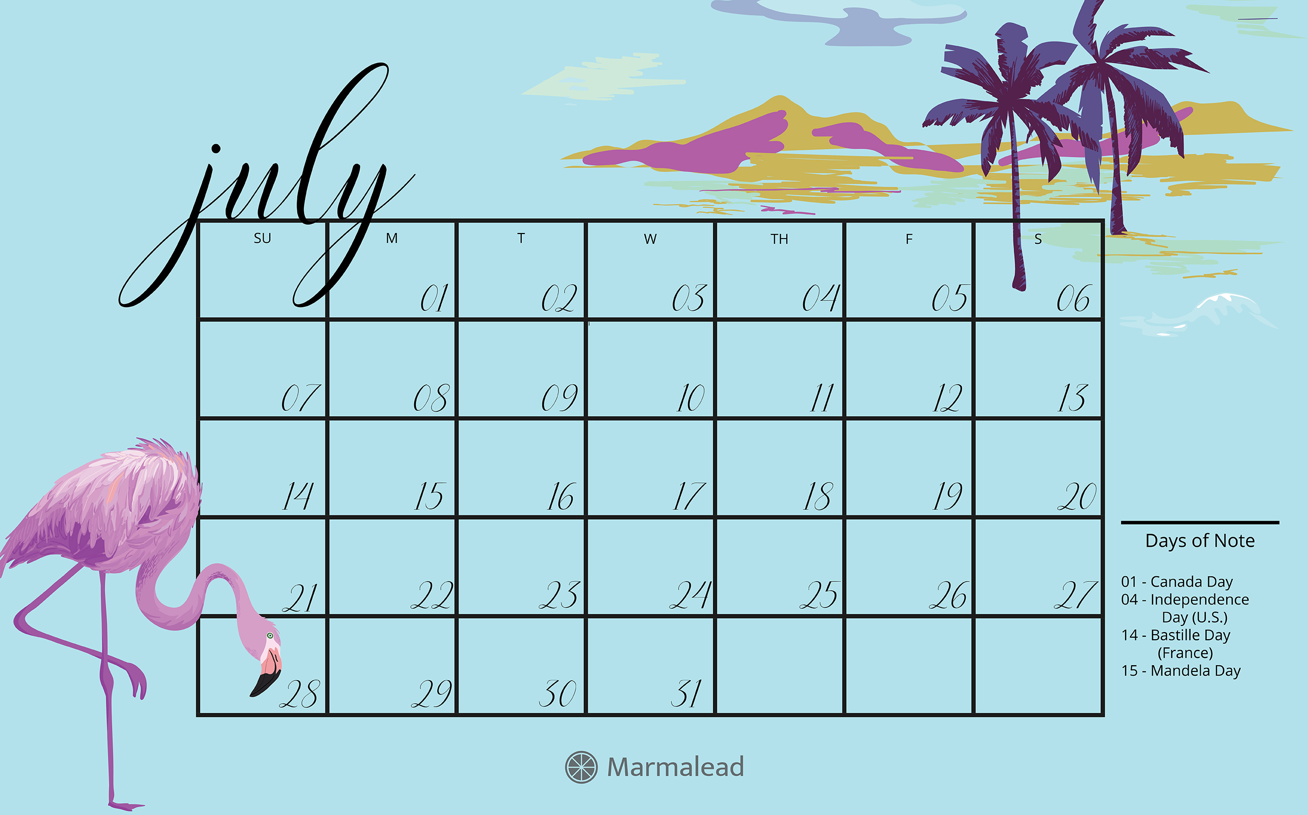 By having this application launch upon logging in to your computer, you can have a calendar on your mac computer's desktop from startup. Q3 2019 Free Desktop Calendars from Marmalead
