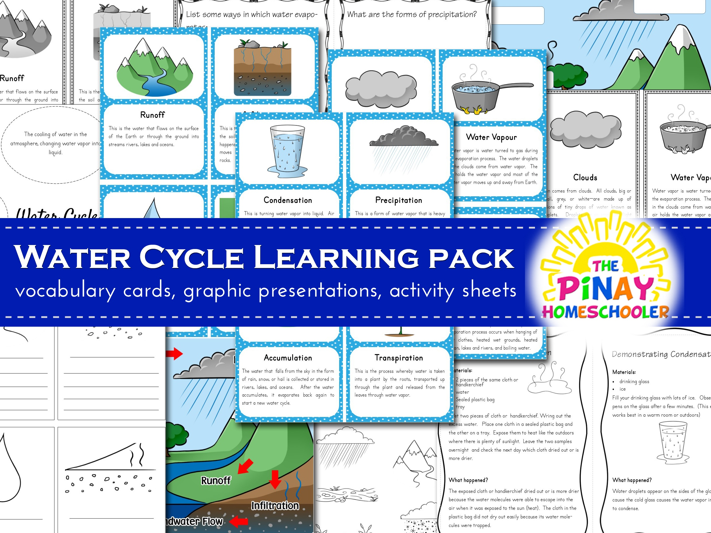 Water Cycle Learning Pack Pinay Homeschooler Shop