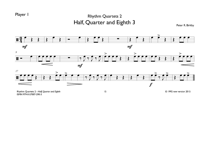 Rhythm Quartets Part 2
