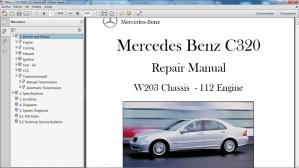 MERCEDES BENZ C320 W203 Manual de Taller  Workshop Re