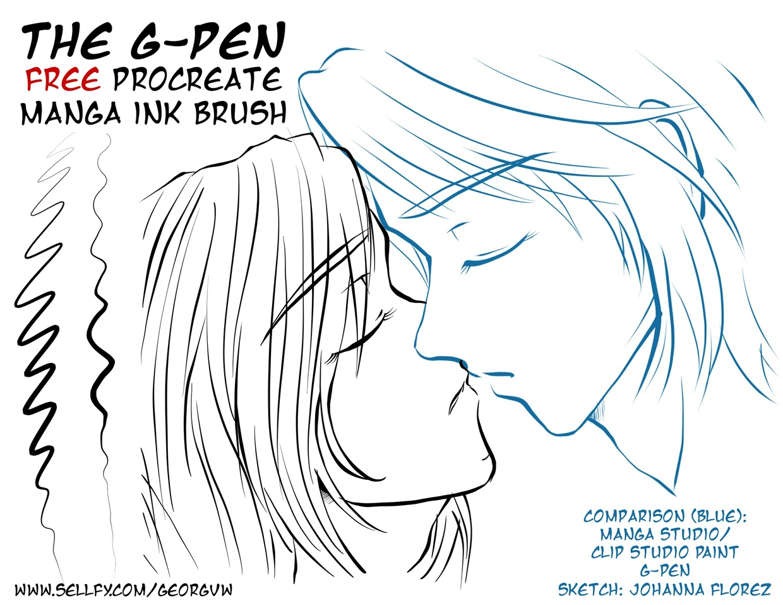 Manga Ink Amp Asian Paint Brush Set 32 Procreate Brush