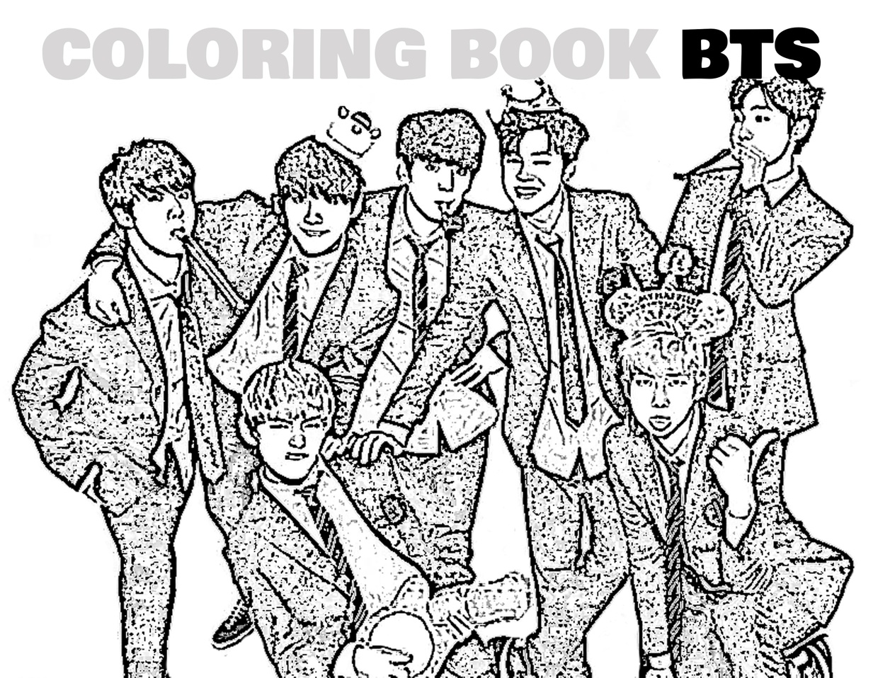 Bts Kpop Coloring Pages