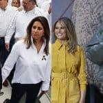 Iván Duque, presidente de Colombia, con su esposa María Juliana Ruiz, y Donald Trump, con su pareja Melania Trump.