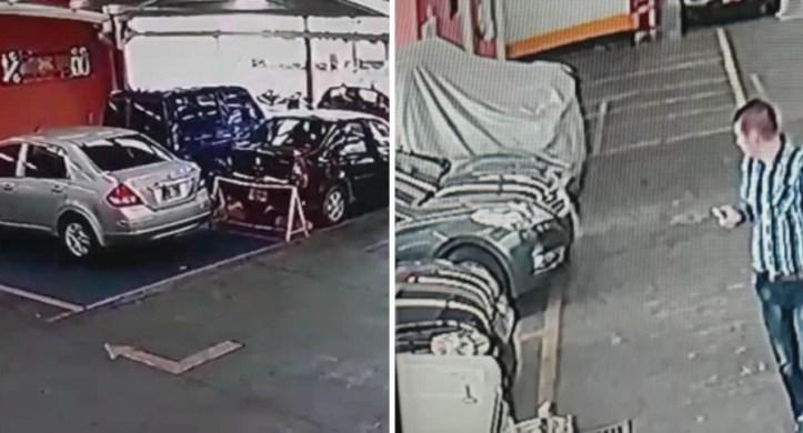 Robos en parqueaderos