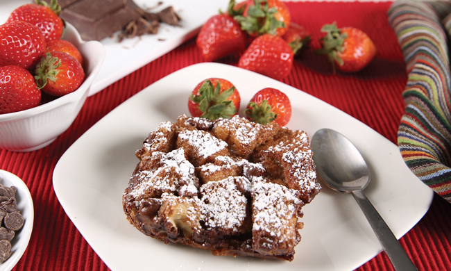 Double Chocolate Breakfast Bread Pudding