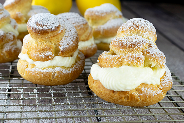 Lemon Cream Puff Recipe Free Cooking and BBQ Magazine