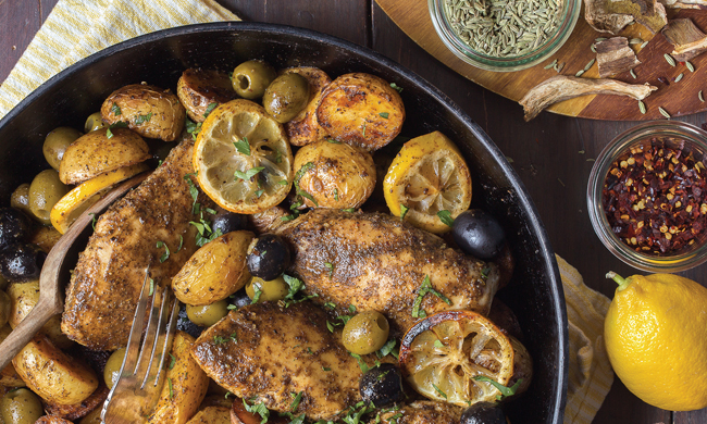 Rustic Chicken with Ripe Olive Recipe