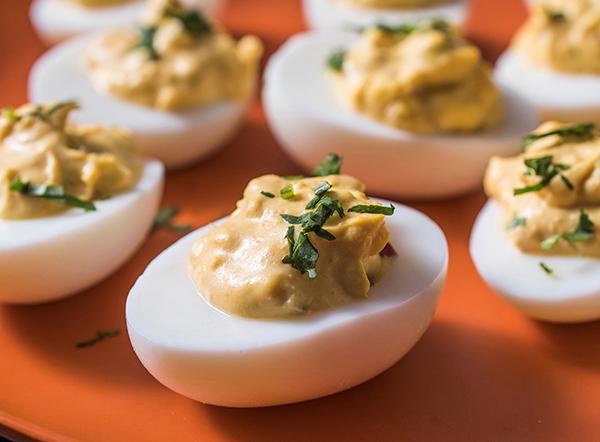 Fiery Deviled Eggs