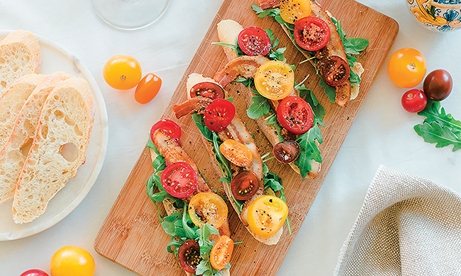 Open-Faced BLT Sandwich Recipe Free Cooking and BBQ Magazine