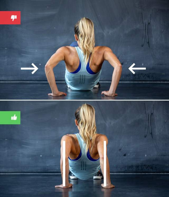 dips mistake1 - Right & Wrong: Most Common Bodyweight Exercise Mistakes