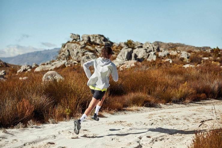 man runnin on a trail