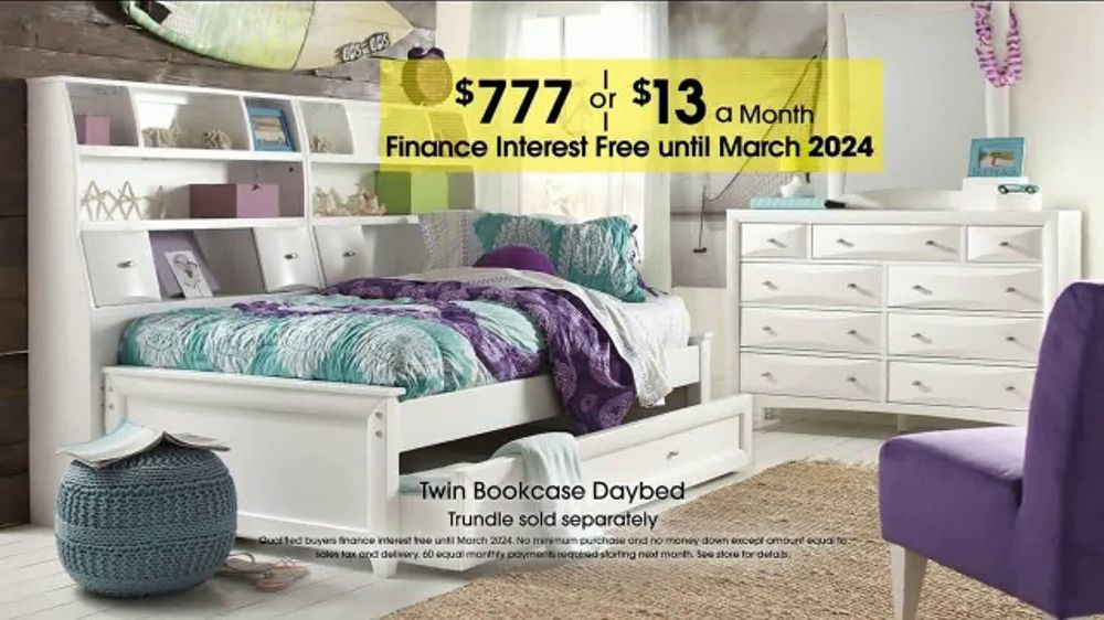 rooms to go kids teens anniversary sale tv commercial twin bookcase your choice