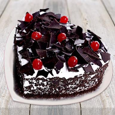 Heart Shape Black Forest Cake Winniin