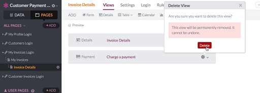 Payment Views     Knack Payment View Settings