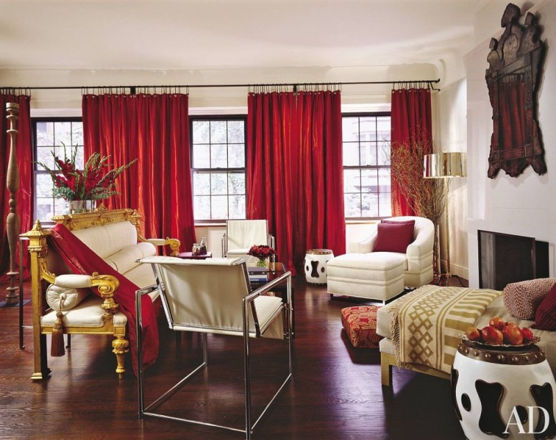 Exotic Living Room by Campion Platt and Campion Platt in New York, New York
