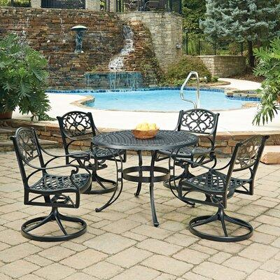 august grove august grove ayleen 5 piece outdoor dining set metal in black size small seats up to 4 wayfair astg2078 27982088 from wayfair