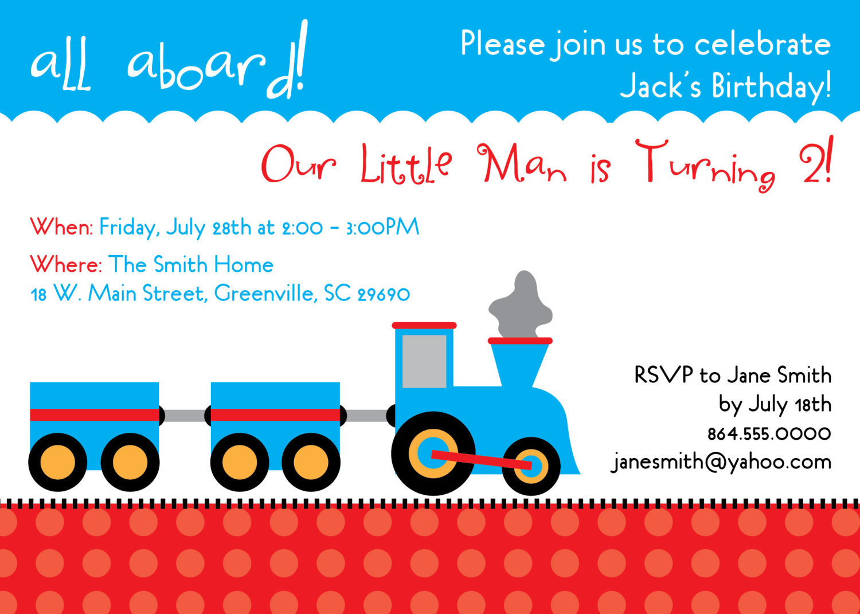 train birthday invitation choo choo