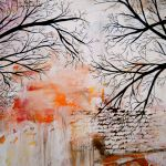 Abstract Landscape Tree Painting Tree Silhouette Lauracarterart Online Store Powered By Storenvy
