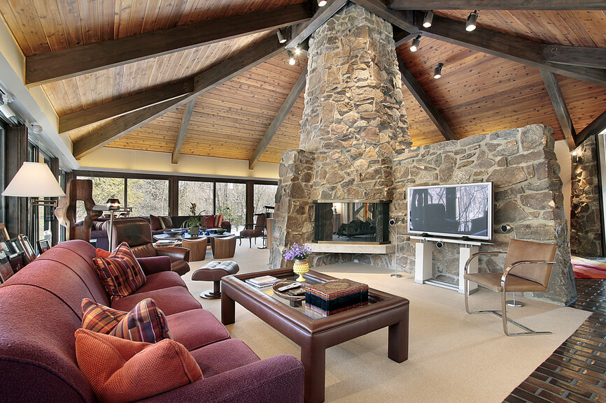 75 Formal & Casual Living Room Designs & Furniture on Fireplace Casual Living id=32894