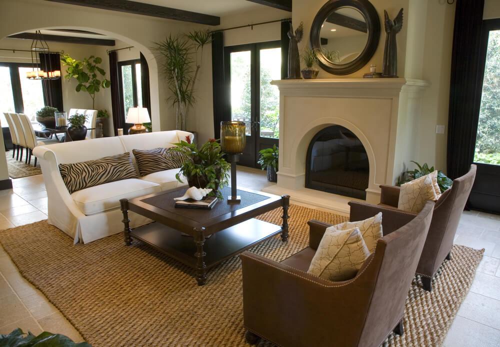 53 Cozy & Small Living Room Interior Designs (SMALL SPACES) on Small Space Small Living Room With Fireplace  id=24129