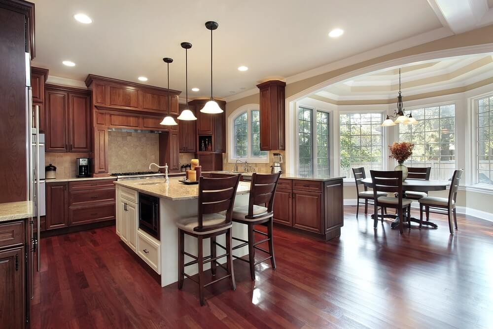 """43 """"New And Spacious"""" Darker Wood Kitchen Designs & Layouts"""