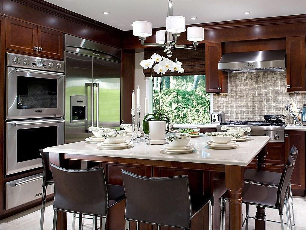 52 Dark Kitchens with Dark Wood and Black Kitchen Cabinets on Backsplash Ideas For Dark Cabinets  id=41917