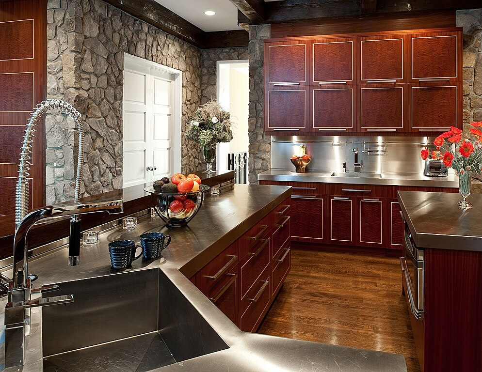 40 Magnificent Kitchen Designs With Dark Cabinets ... on Maple Kitchen Cabinets With Dark Wood Floors Dark Countertops  id=56823