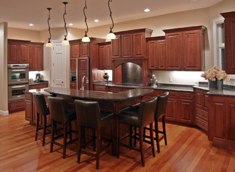 52 Dark Kitchens with Dark Wood and Black Kitchen Cabinets on Maple Kitchen Cabinets With Dark Wood Floors Dark Countertops  id=99140