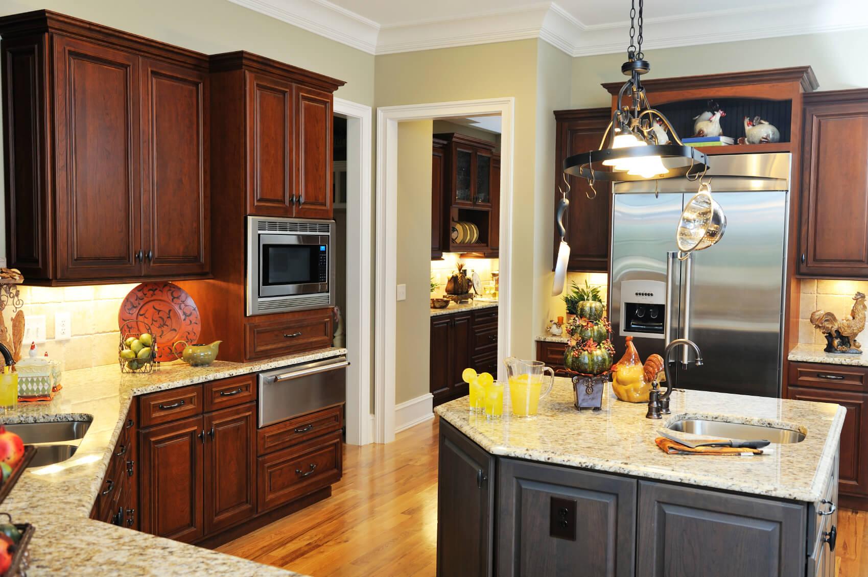 52 Dark Kitchens with Dark Wood and Black Kitchen Cabinets on Maple Kitchen Cabinets With Dark Wood Floors Dark Countertops  id=92142