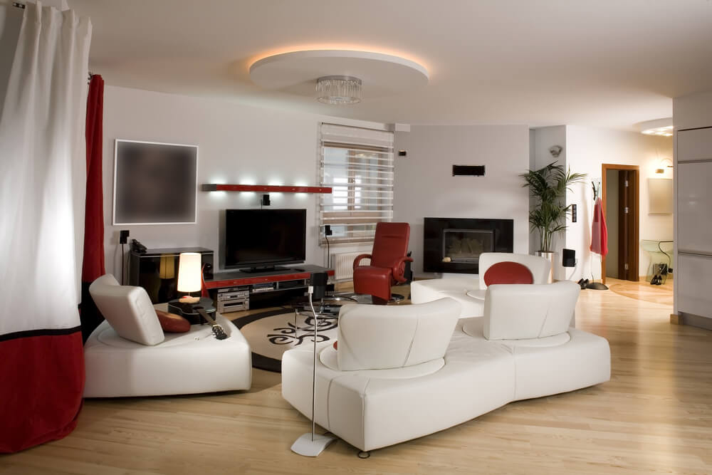 45 Contemporary Living Rooms With Sectional Sofas (Pictures