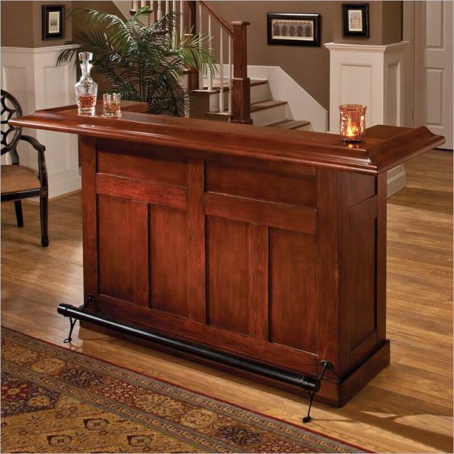 ... cherry wood home bar would fit well in a contemporary home design