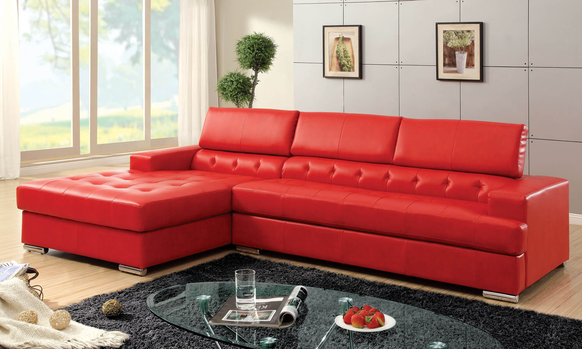 Designed in classic red color that complements any contemporary home, this sectional sofa set is wonderfully versatile. 18 Stylish Modern Red Sectional Sofas