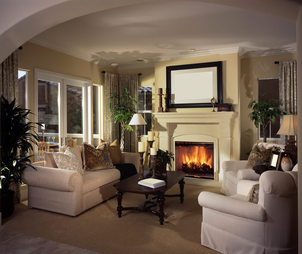 41 Beautiful Living Rooms with Fireplaces of All Types on Small Space Small Living Room With Fireplace  id=35868