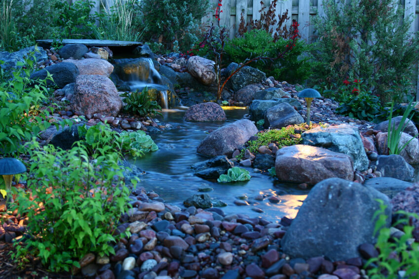 37 Backyard Pond Ideas & Designs (Pictures) on Backyard Stream Ideas id=47671