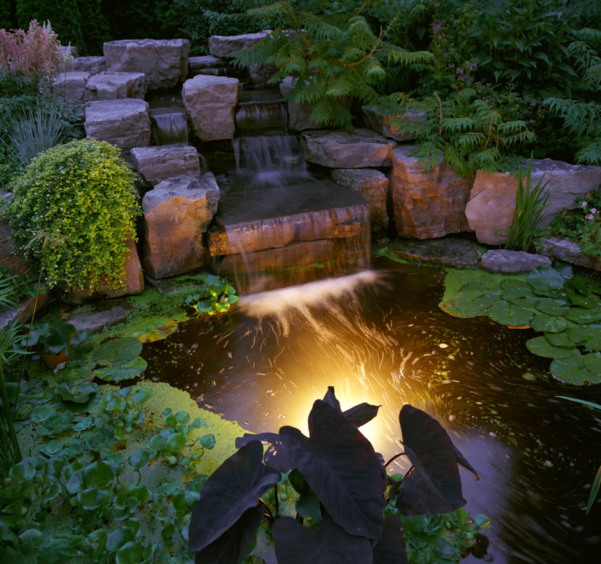 50 Pictures of Backyard Garden Waterfalls (Ideas & Designs) on Small Backyard Pond With Waterfall  id=65836