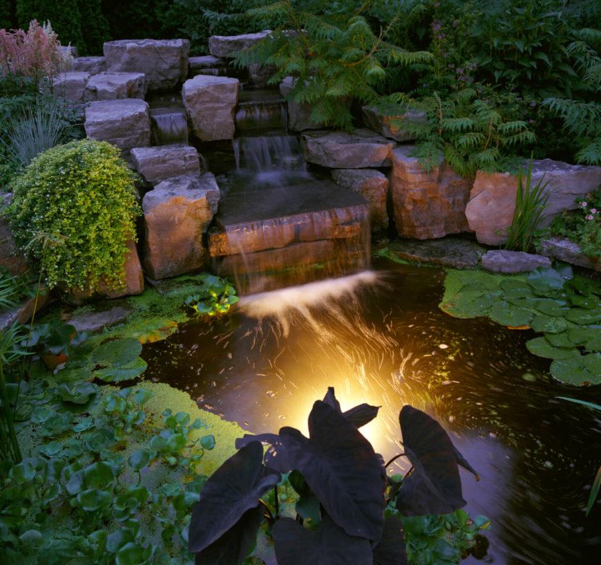 50 Pictures of Backyard Garden Waterfalls (Ideas & Designs) on Waterfall Ideas For Garden id=76125