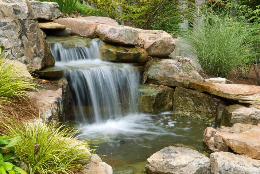 50 Pictures of Backyard Garden Waterfalls (Ideas & Designs) on Rock Garden Waterfall Ideas  id=39183