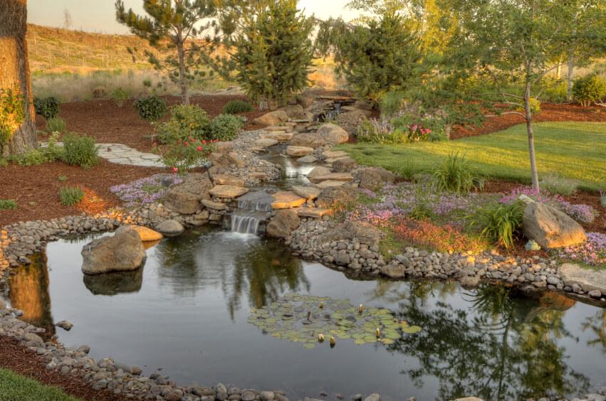 50 Pictures of Backyard Garden Waterfalls (Ideas & Designs) on Backyard Stream Ideas id=41805