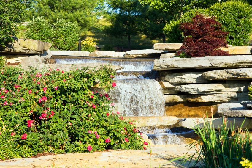 50 Pictures of Backyard Garden Waterfalls (Ideas & Designs) on Rock Garden Waterfall Ideas  id=92441